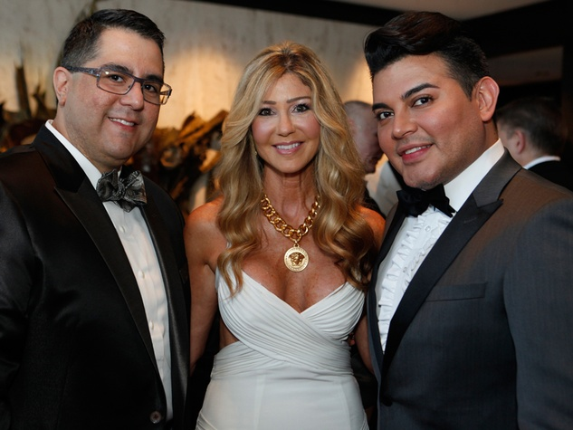 75 Dr. Roland Maldonado, from left, Patti Murphy and Edward Sanchez at the STAGES Xanadu Gala April 2014