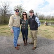 Gregory Cokinos, Brittany OBrien, Jacob Roberts at Memorial Hermann Clay Shoot