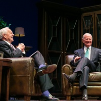 Bob Schieffer and James A. Baker III at the M.D. Anderson Living Legend in Washington, D.C. November 2013