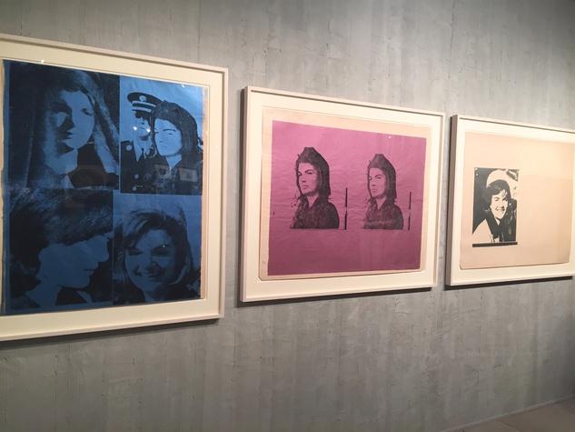 Lea Weingarten Armory Arts Week Fair Story March 2015 Image 10 Andy Warhol Jackie I, Jackie II, Jackie III, 1965 - 66 Trial proofs Susan Sheehan Gallery