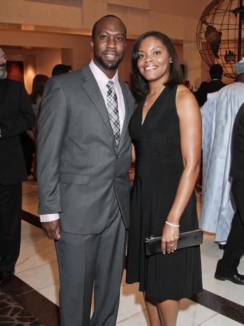 DeMarcus and Khadjiah Barkers at the Medical Bridges gala October 2013
