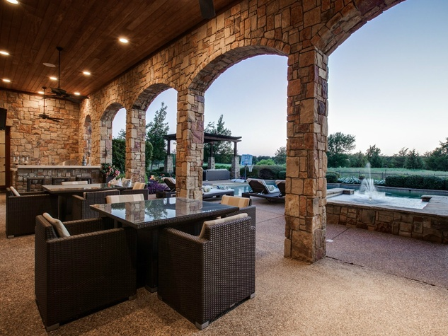 Back patio at 1724 Wisteria Way in Westlake
