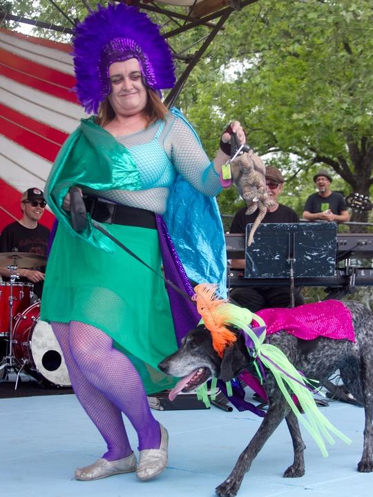 Easter Pet Parade on South Congress 2014 Lola Estes Trixie Dog
