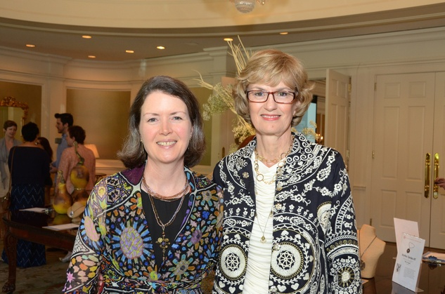 56 Joanna Wortham, left, and Paula Arnold at the Houston Center for Contemporary Craft spring luncheon May 2014