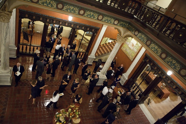 News_Julia Ideson Library_restoration_December 2011_Tudor Gallery inside Julia Ideson Library is  one of the newly restored spaces available for private event rentals