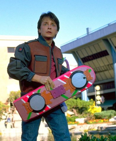 Marty McFly Back to the Future hoverboard costume