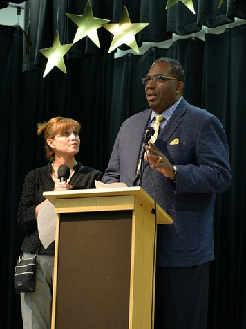 Senator Royce West, belk uniform giveaway