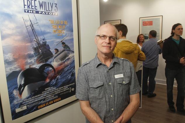 Robert Brandenburg next to his Free Willy 3 piece