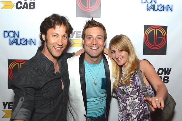 David Eagleman, from left, Don Vaughn and Sarah Eagleman at the Don Vaughn CD Launch Party August 2014