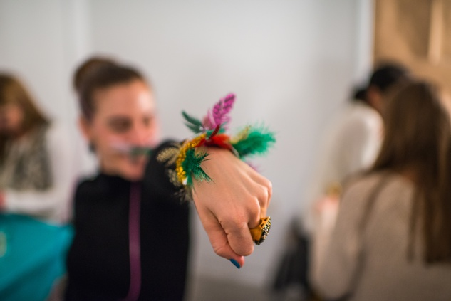 A handmade craft at the MFAH Art Crowd Party November 2014
