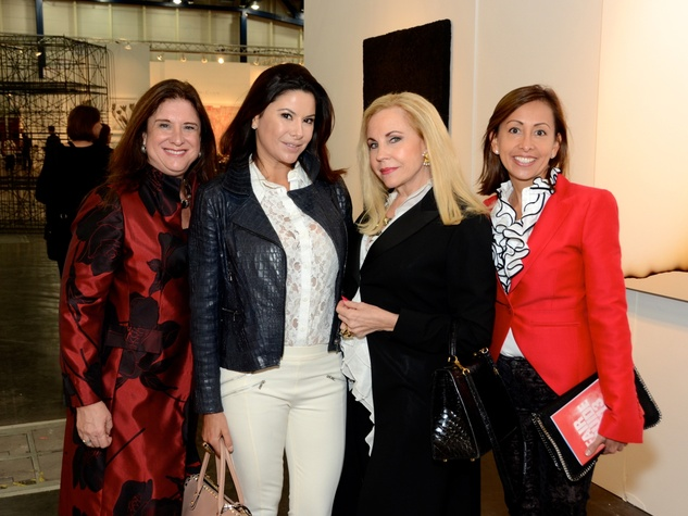 16 Deborah Colton, from left, Mariana Debes, Carolyn Farb and Johanna Donson at the Texas Contemporary Art Fair VIP opening party October 2013