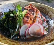 Kemuri Tatsu-ya restaurant food sunomono