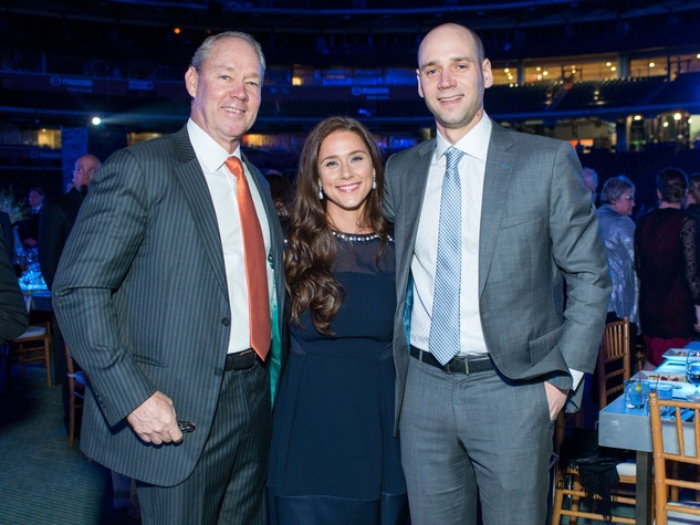 Astros Diamond Gala, Jan. 2016, Jim Crane, Krystal Crane Thompson, Jared Crane