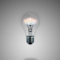 light bulb, idea, glowing