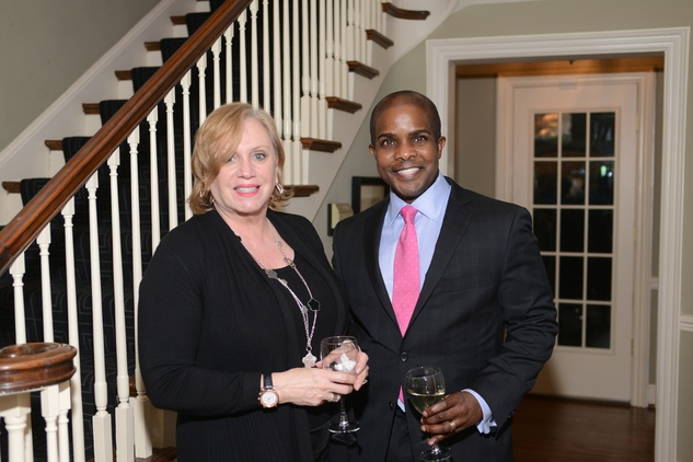 17 Vicki Rusca and Alton LaDay at the Houston Design Center Spring Market pre-party at Lauren Rottet's home April 2014
