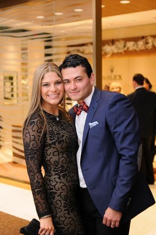 Karen and Santiago Mora at the Thomas Markle Jewelers grand opening at Gateway Memorial City December 2014