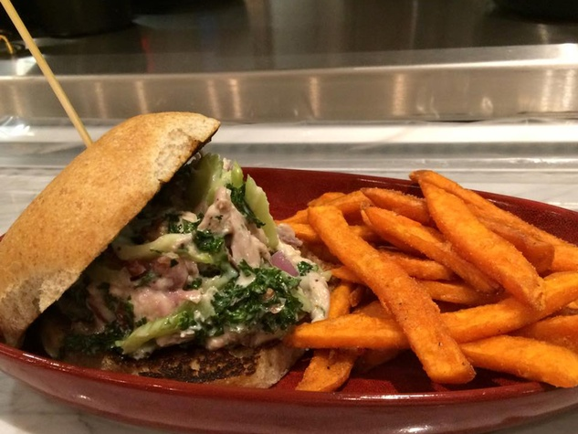 Local Pour The Woodlands burger french fries