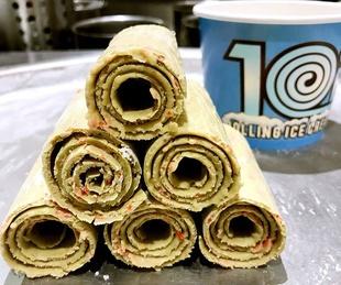 10 F Rolled Ice Cream