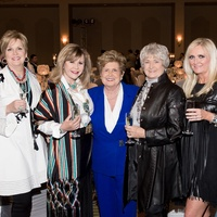 5 Donna Webster, from left, Cyndy Garza Roberts, Kay Stevens, Linda Sue Barnes and Jill Watson at the Rodeo Trailblazer Awards Luncheon February 2015