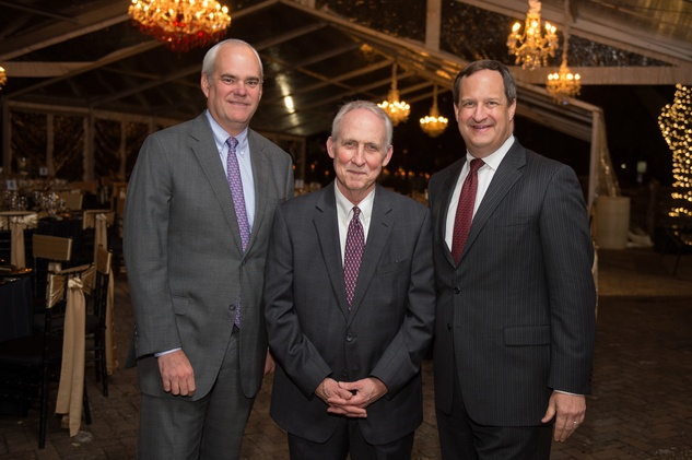 6936 Townes Pressler Jr., from left, C. Orson Cook and Mark Worscheh at the Heritage Society Gala December 2014