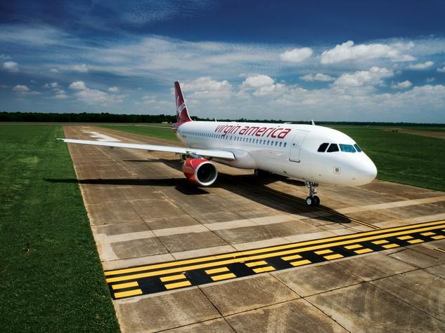 Virgin America airplane