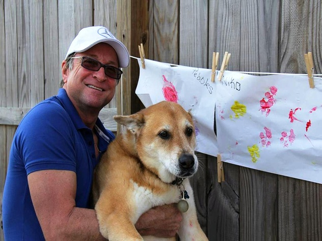 Dennis Murland and Niko at Paint with Your Pet February 2014