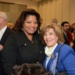 17 Rhonda Arnold, left, and Helen Cavazos at the mayoral inauguration reception at the Houston Food Bank January 2014