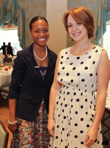 17, Citizen Schools luncheon, October 2012, Tarren Everette, Laura Hilbert