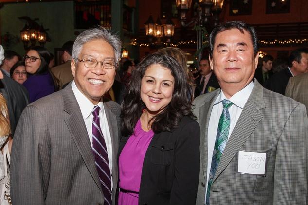 News, Shelby, Mayor's Hispanic Holiday Party, December 2014, Gordon Quan, Christina Cabral, Manson Johnson