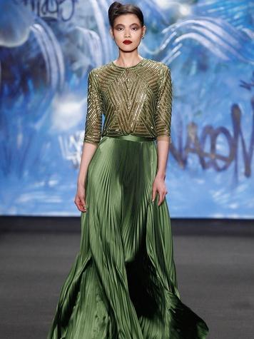 Clifford New York Fashion Week fall 2015 Naeem Khan March 2015 LOOK 11