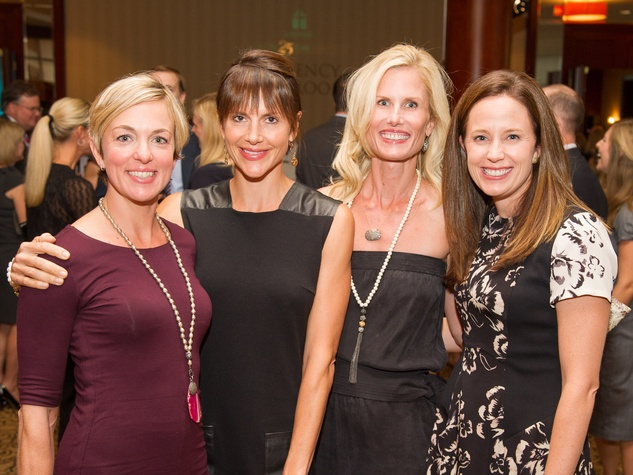 Robyn Canterbury, from left, Mary Ellen Bos, Annsley Popov and Courtney Archer at the LifeHouse fundraiser October 2013