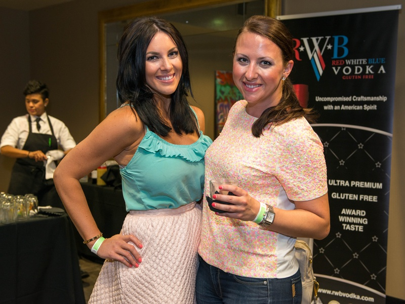17 Janessa Young, left, and Hilary Peterson at the Crafted mixology contest at Mr. Peeples July 2014