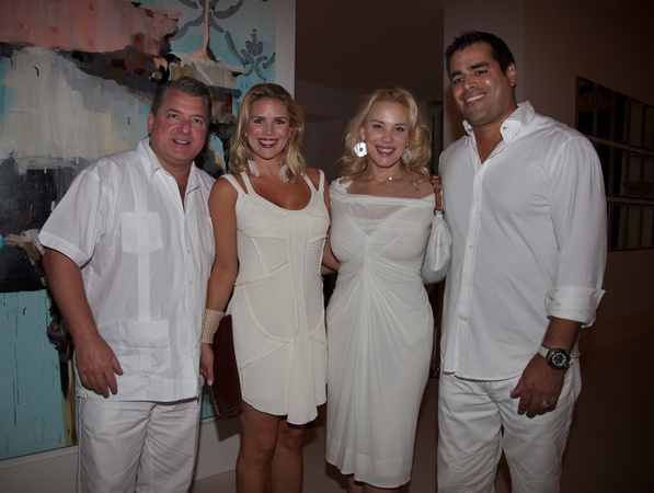 Texans White Out, Jim Lee, Amy Lee, Jenee Stefanakis, Nick Stefanakis,,  Sept. 2012