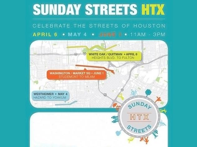 Sunday Streets Houston Texas map