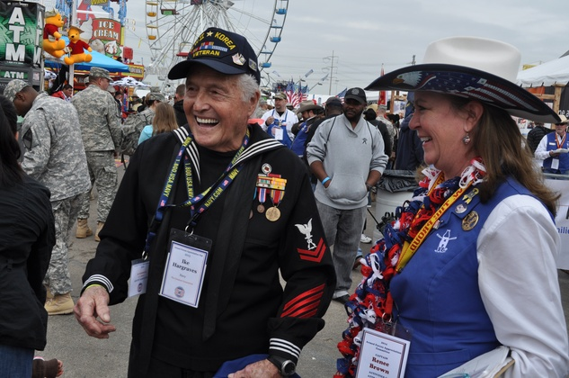 News, Shelby, Ike Hargraves, Renee Brown, Rodeo Armed Services Day, March 2014