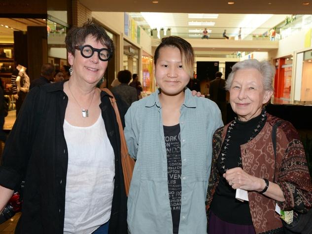 Suzanne O'Brien, Maisie O'Brien, Ruth Anderson, Ivan Navarro exhibit