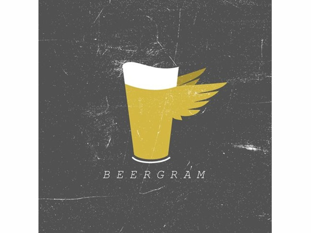 BeerGram, pitcher of beer, wings, logo