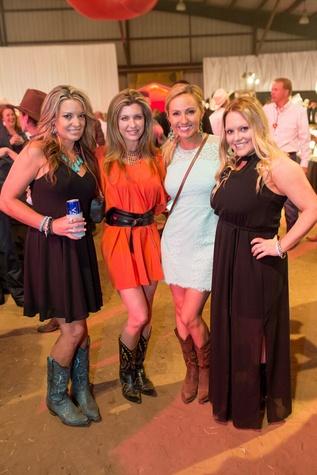 Cattle Baron's Ball 2015 Jen Crain, Lisa Nalley, Kari Burkhardt and Trista Rogers
