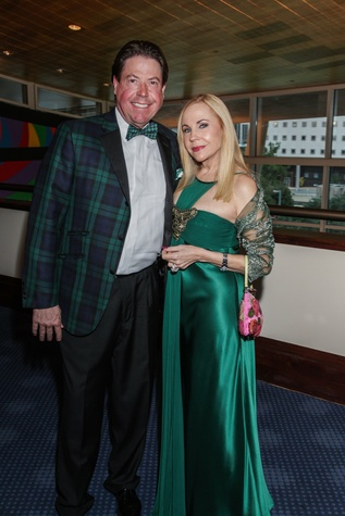 John Evatz and Carolyn Farb at the Bering Omega's Sing for Hope Event October 2014