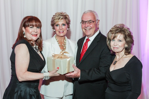 Barbara Van Postman, from left, Mary Ann and Bob Wilkins and Dorothy Bolettieri at the Medical Bridges Gala September 2014