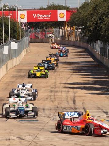 Houston Grand Prix race trace