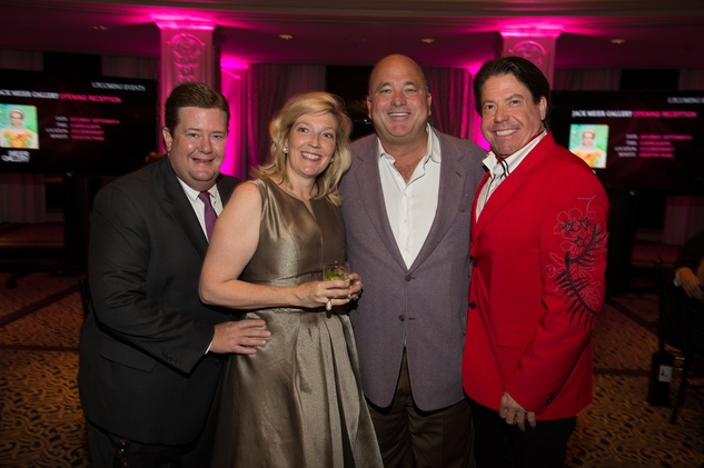 0413 Jeff and Kathryn Smith, from left, Mark Grierson and John Evatz at the Pet Set Soiree September 2014