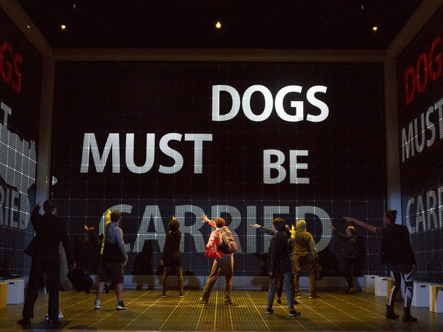 Adam Langdon and cast of the national tour of The Curious Incident of the Dog in the Night-Time