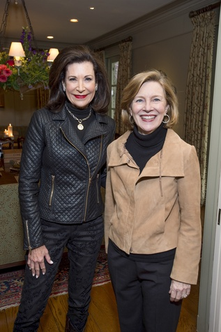 28 Betty Hrncir, left, and Kay English at The Kinkaid School Alumni luncheon March 2015