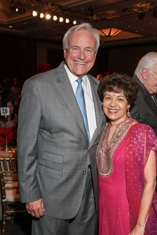 Bill King and Marie Goradia at the Interfaith Ministries Tapestry Gala May 2014