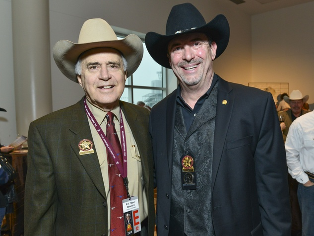 13 Steve Stevens, left, and Sam Ray at the RodeoHouston Wine Auction Dinner March 2014