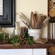 Fall mantel with rich and earthy textures