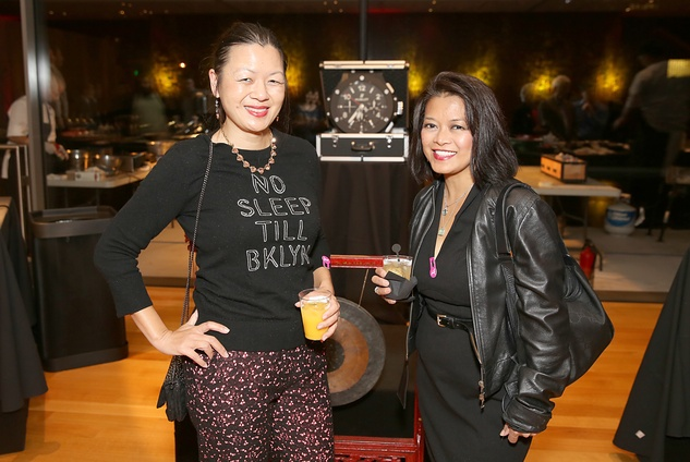 66 Adrienne Wong, left, and Loida Wexler at the Asia Society Texas Center Kobe beef Cook-off December 2014