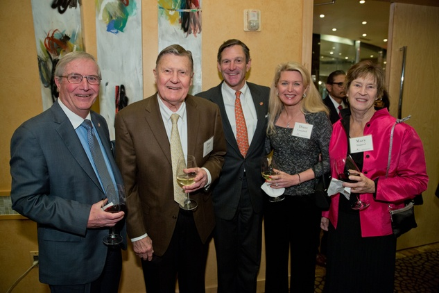 News, Shelby, UTHealth at Tony's,  George Stancel, Bob Greer, Bill and Diane Campbell and Mary Stancel, Jan. 2015