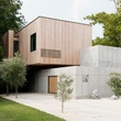 Houzz Houston house home Japanese-style concrete box exterior